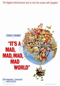 It's a Mad, Mad, Mad, Mad World - 43 x 62 Movie Poster - Bus Shelter Style A