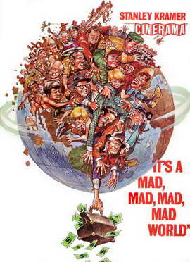 It's a Mad, Mad, Mad, Mad World - 11 x 17 Movie Poster - Style G