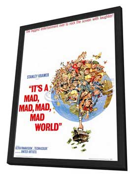 It's a Mad, Mad, Mad, Mad World - 27 x 40 Movie Poster - Style A - in Deluxe Wood Frame