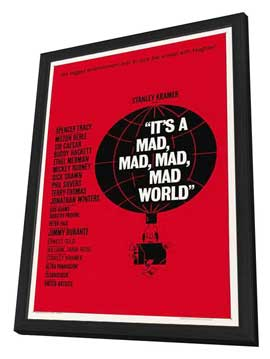 It's a Mad, Mad, Mad, Mad World - 27 x 40 Movie Poster - Style C - in Deluxe Wood Frame