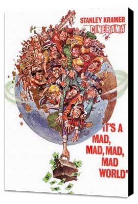It's a Mad, Mad, Mad, Mad World - 11 x 17 Movie Poster - Style G - Museum Wrapped Canvas