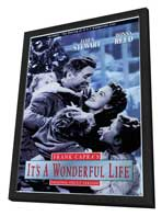 It's a Wonderful Life - 11 x 17 Movie Poster - Style E - in Deluxe Wood Frame