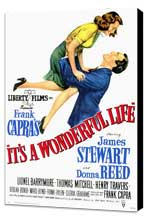 It's a Wonderful Life - 11 x 17 Movie Poster - Style A - Museum Wrapped Canvas