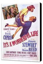 It's a Wonderful Life - 11 x 17 Movie Poster - Style F - Museum Wrapped Canvas