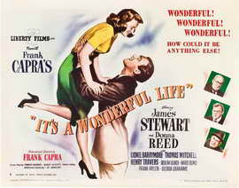 It's a Wonderful Life - 22 x 28 Movie Poster - Half Sheet Style B
