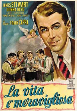 It's a Wonderful Life - 11 x 17 Movie Poster - Italian Style B