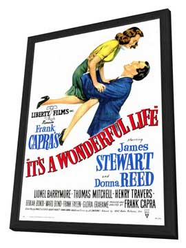 It's a Wonderful Life - 27 x 40 Movie Poster - Style A - in Deluxe Wood Frame