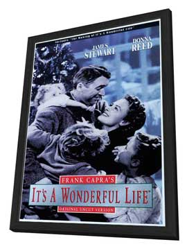It's a Wonderful Life - 27 x 40 Movie Poster - Style C - in Deluxe Wood Frame
