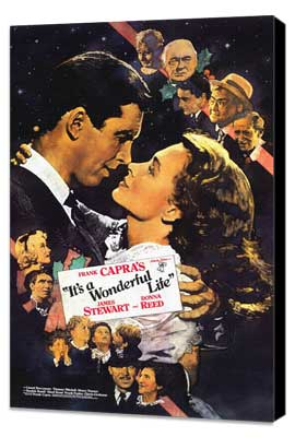It's a Wonderful Life - 11 x 17 Movie Poster - Style G - Museum Wrapped Canvas