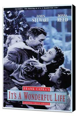 It's a Wonderful Life - 11 x 17 Movie Poster - Style E - Museum Wrapped Canvas
