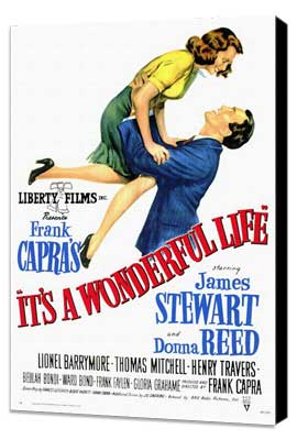 It's a Wonderful Life - 27 x 40 Movie Poster - Style A - Museum Wrapped Canvas