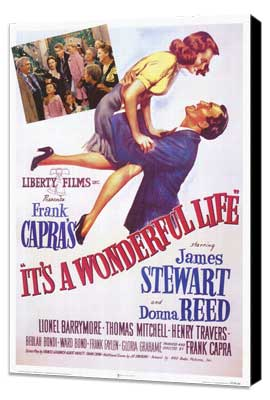 It's a Wonderful Life - 27 x 40 Movie Poster - Style E - Museum Wrapped Canvas