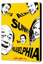 It's Always Sunny in Philadelphia - 27 x 40 Movie Poster - Style A - Museum Wrapped Canvas