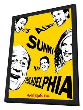 It's Always Sunny in Philadelphia - 11 x 17 Movie Poster - Style A - in Deluxe Wood Frame