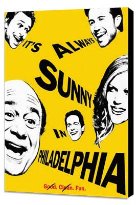 It's Always Sunny in Philadelphia - 11 x 17 Movie Poster - Style A - Museum Wrapped Canvas