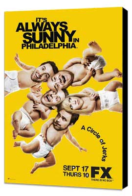 It's Always Sunny in Philadelphia - 11 x 17 TV Poster - Style B - Museum Wrapped Canvas