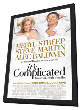 It's Complicated - 11 x 17 Movie Poster - Style C - in Deluxe Wood Frame