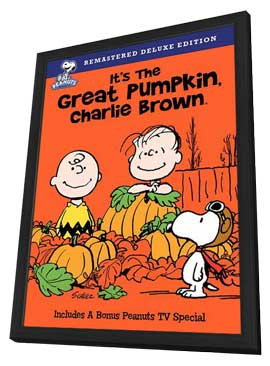It's the Great Pumpkin, Charlie Brown - 27 x 40 Movie Poster - Style A - in Deluxe Wood Frame