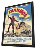 Ivanhoe - 11 x 17 Movie Poster - Style B - in Deluxe Wood Frame