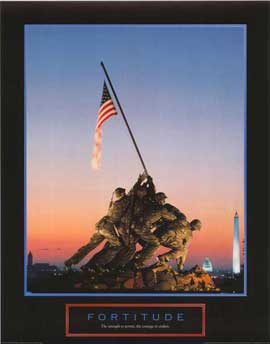 Iwo Jima-Flag Raising - 11 x 17 Movie Poster - Style A