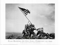 Iwo Jima-Flag Raising - 43 x 62 Movie Poster - Bus Shelter Style B