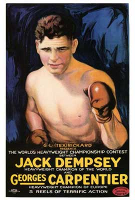 Jack Dempsey vs. Georges Carpenter - 27 x 40 Movie Poster - Style A