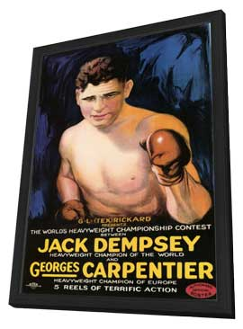 Jack Dempsey vs. Georges Carpenter - 11 x 17 Movie Poster - Style A - in Deluxe Wood Frame