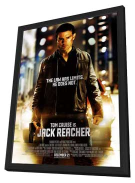Jack Reacher - 27 x 40 Movie Poster - Style A - in Deluxe Wood Frame