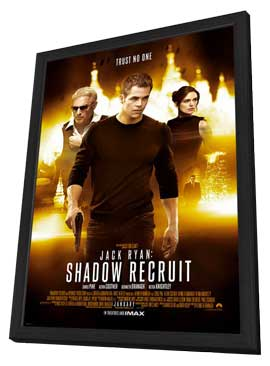 Jack Ryan: Shadow Recruit - 27 x 40 Movie Poster - Style A - in Deluxe Wood Frame