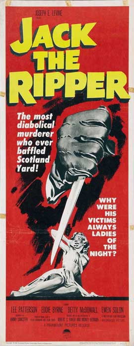 Jack the Ripper - 14 x 36 Movie Poster - Insert Style A