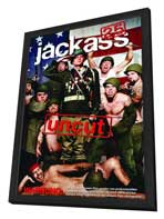 Jackass 2.5 - 11 x 17 Movie Poster - German Style A - in Deluxe Wood Frame