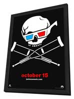 Jackass 3-D - 11 x 17 Movie Poster - Style A - in Deluxe Wood Frame