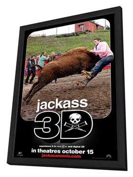 Jackass 3-D - 11 x 17 Movie Poster - Style E - in Deluxe Wood Frame