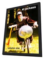 Jackass - 11 x 17 TV Poster - Style F - in Deluxe Wood Frame