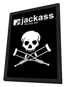 Jackass - 27 x 40 TV Poster - Style B - in Deluxe Wood Frame