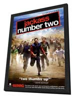 Jackass: Number Two - 27 x 40 Movie Poster - Style J - in Deluxe Wood Frame
