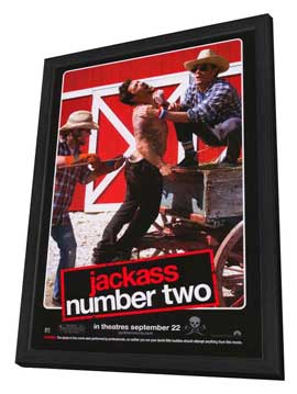 Jackass: Number Two - 27 x 40 Movie Poster - Style G - in Deluxe Wood Frame