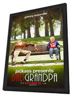 Jackass Presents:  Bad Grandpa - 11 x 17 Movie Poster - Style B - in Deluxe Wood Frame