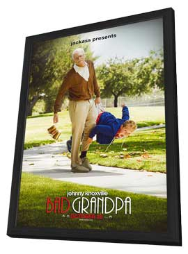 Jackass Presents:  Bad Grandpa - 27 x 40 Movie Poster - Style A - in Deluxe Wood Frame