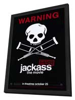 Jackass: The Movie - 11 x 17 Movie Poster - Style B - in Deluxe Wood Frame