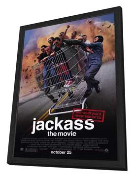 Jackass: The Movie - 11 x 17 Movie Poster - Style A - in Deluxe Wood Frame