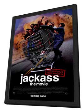 Jackass: The Movie - 27 x 40 Movie Poster - Style A - in Deluxe Wood Frame