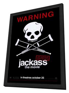 Jackass: The Movie - 27 x 40 Movie Poster - Style B - in Deluxe Wood Frame