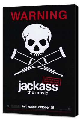 Jackass: The Movie - 11 x 17 Movie Poster - Style B - Museum Wrapped Canvas