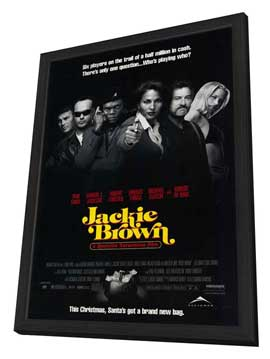 Jackie Brown - 11 x 17 Movie Poster - Style H - in Deluxe Wood Frame