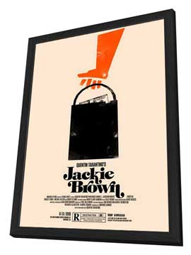 Jackie Brown - 11 x 17 Movie Poster - Style M - in Deluxe Wood Frame