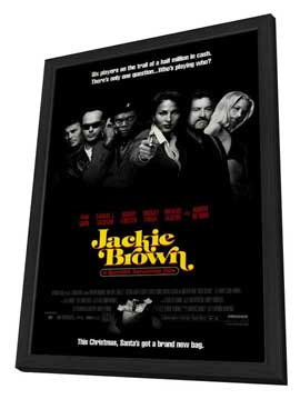 Jackie Brown - 27 x 40 Movie Poster - Style A - in Deluxe Wood Frame