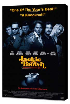 Jackie Brown - 11 x 17 Movie Poster - Style G - Museum Wrapped Canvas