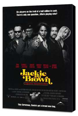 Jackie Brown - 11 x 17 Movie Poster - Style H - Museum Wrapped Canvas
