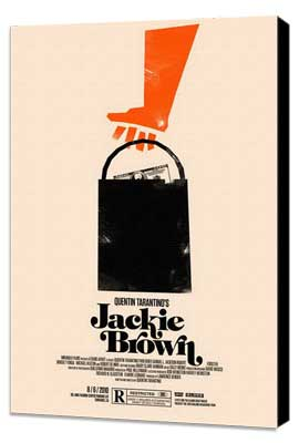 Jackie Brown - 11 x 17 Movie Poster - Style M - Museum Wrapped Canvas